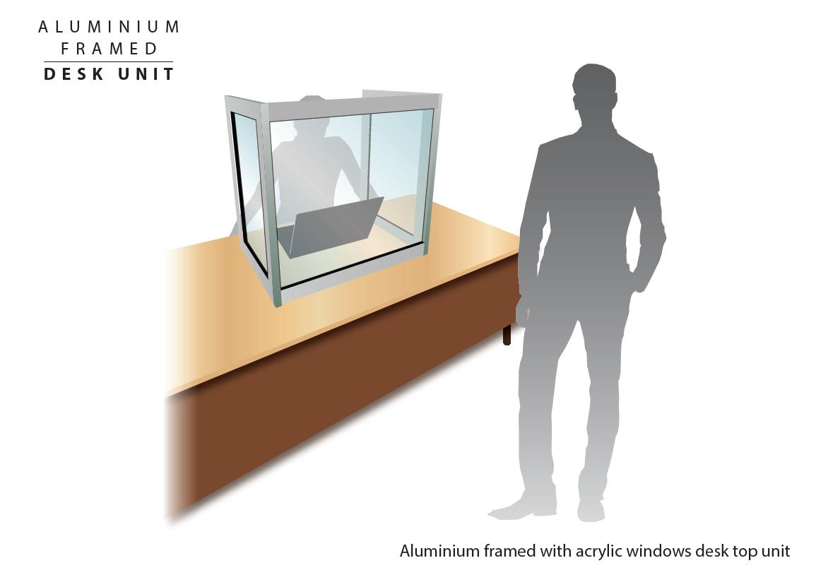 Aluminium Framed Desk Screen Guard