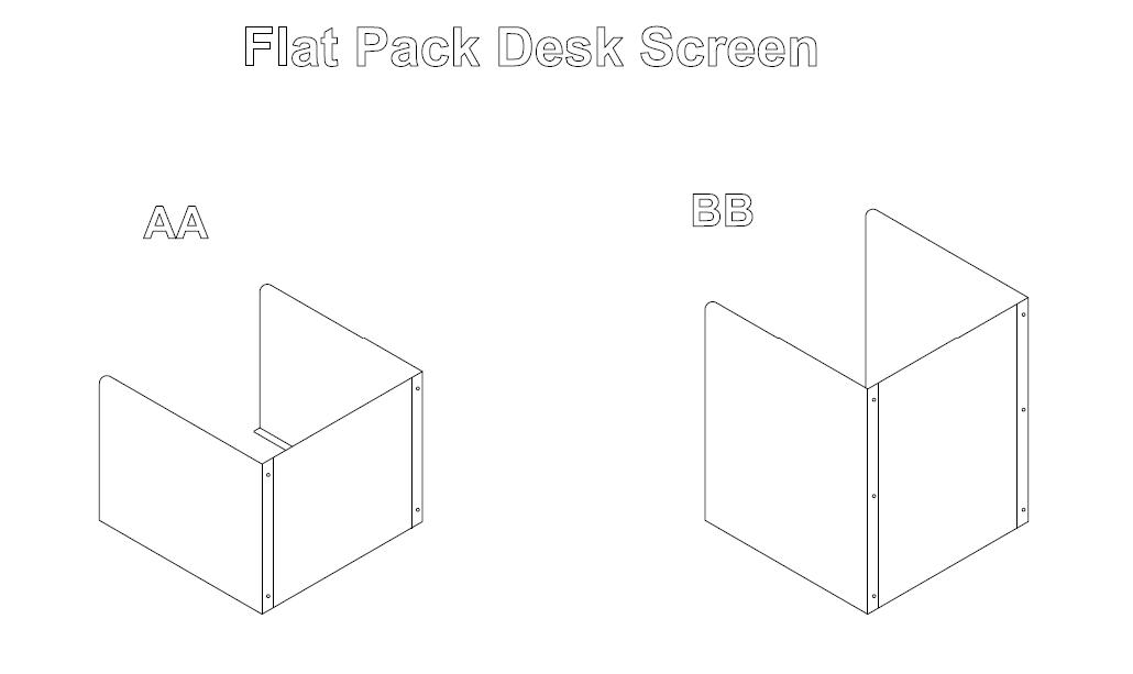 Flat Pack Desk Screens