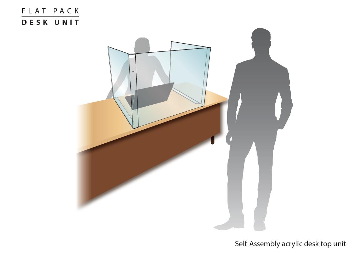 Flat Pack Desk Screen Guard