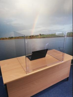 Self Assembly Acrylic Desk Top Unit AA/BB
